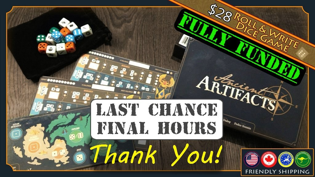 Ancient Artifacts: a roll and write game for 1-4 players project video thumbnail