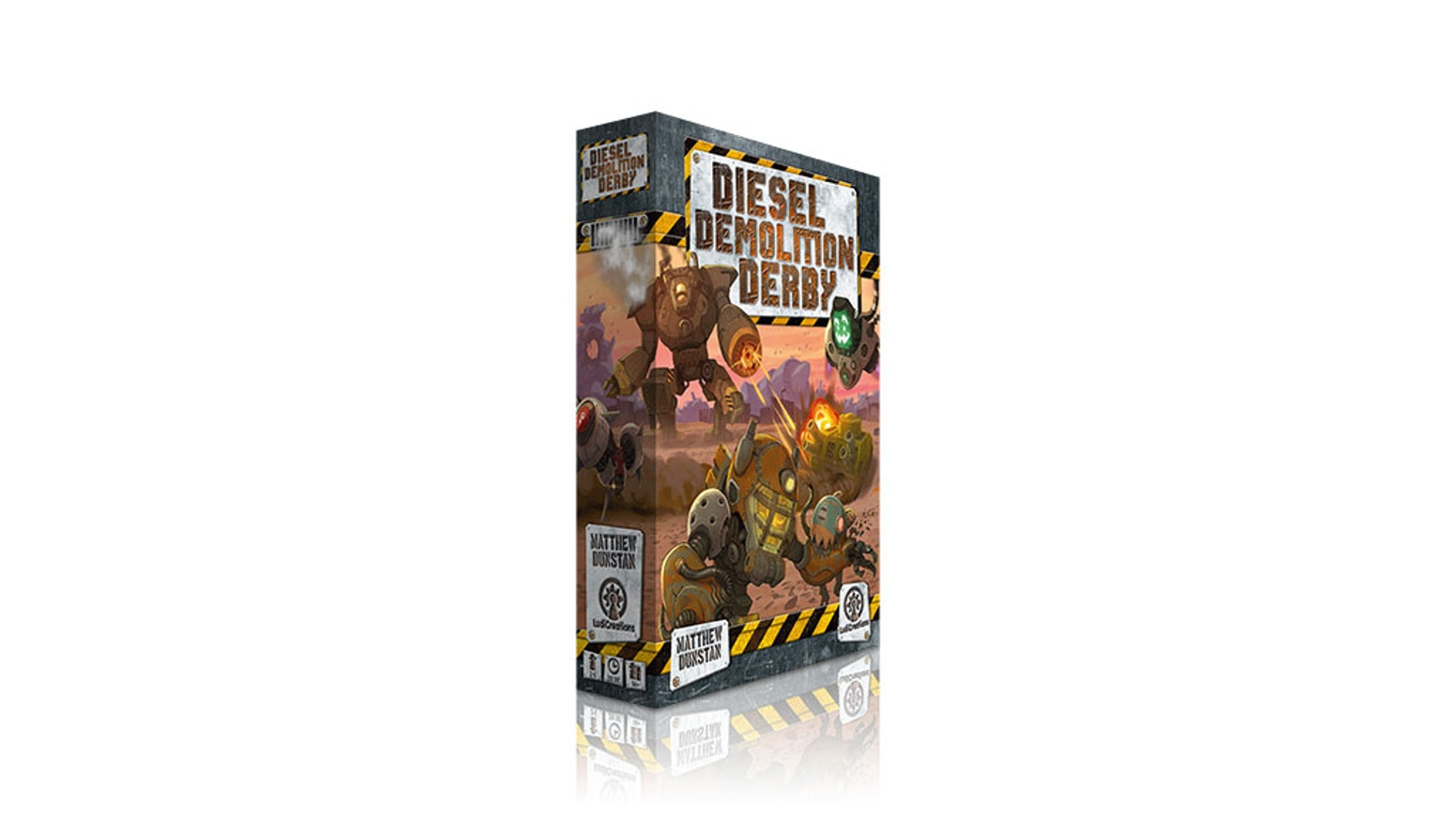A tactical drafting card game for 2-6 players. An underground fighting league for dieselpunk mechas in a society in Crisis.