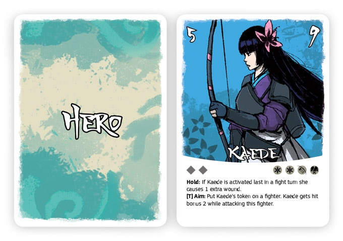 The Hero card of Kaede
