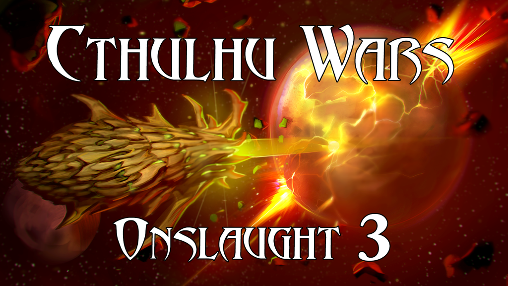 Cthulhu Wars Onslaught 3 miniatura de video del proyecto