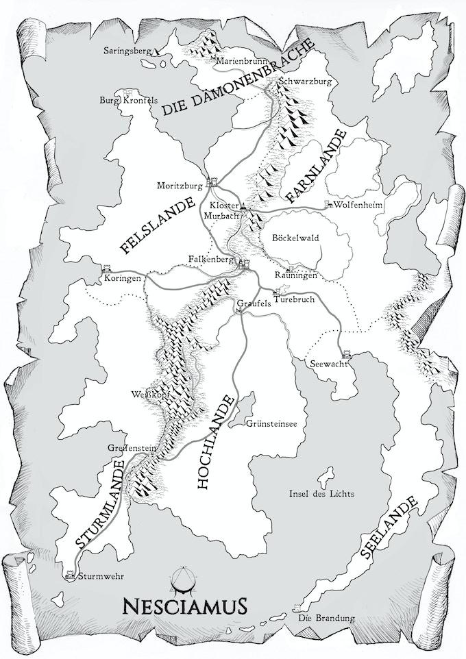 Karte von Dämmermark