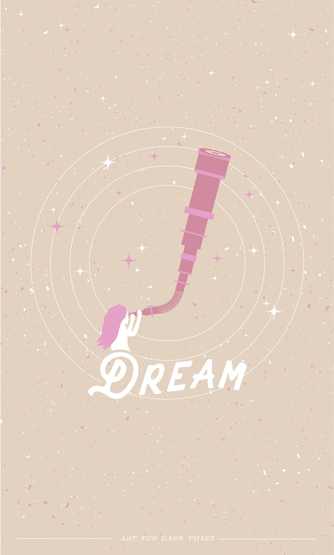 "01. ""Dream"" screen print. 11""x 17"""