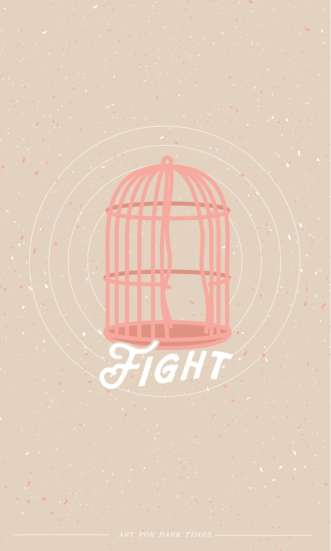 "03. ""Fight"" screen print. 11""x 17"""