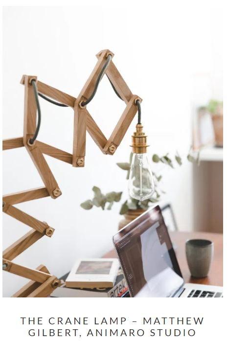 Interview with Matt Gilbert designer of the Crane Lamp
