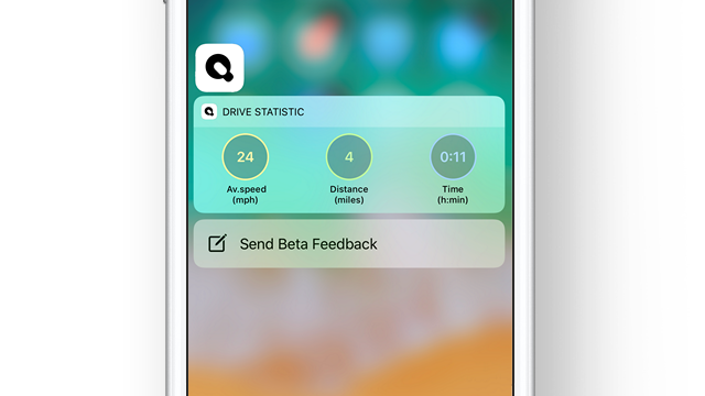3D touch provides quick access to the Drive Statistics, navigation points and other.