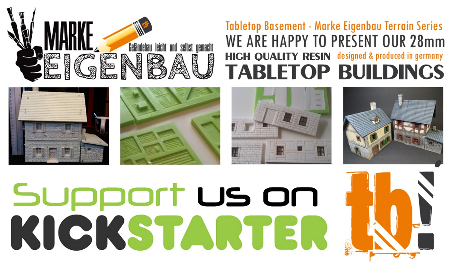 We are happy to present our 28mm - high quality resin - TABLETOP BUILDINGS. The terrain is handmade - designed and produced in germany.