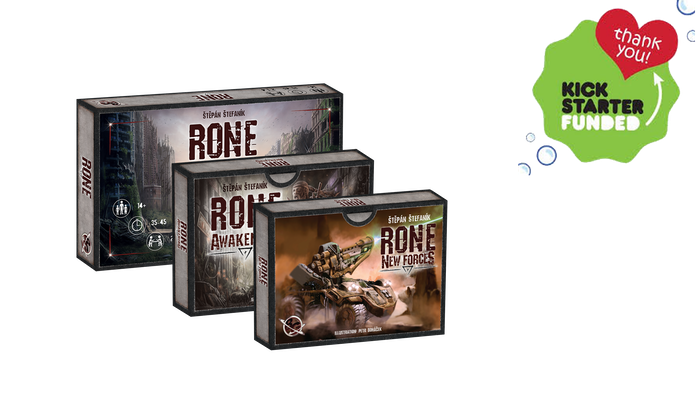 "RONE 2nd edition and the new expansion ""New Forces"". Improved graphics, box, rulebook, and a lot of new features in the new expansion."