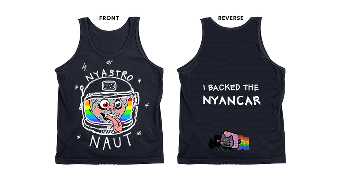 Andrew Fitzpatrick original design Tank Top in Navy ($60 -- $40 to the project, $20 for the shirt!)