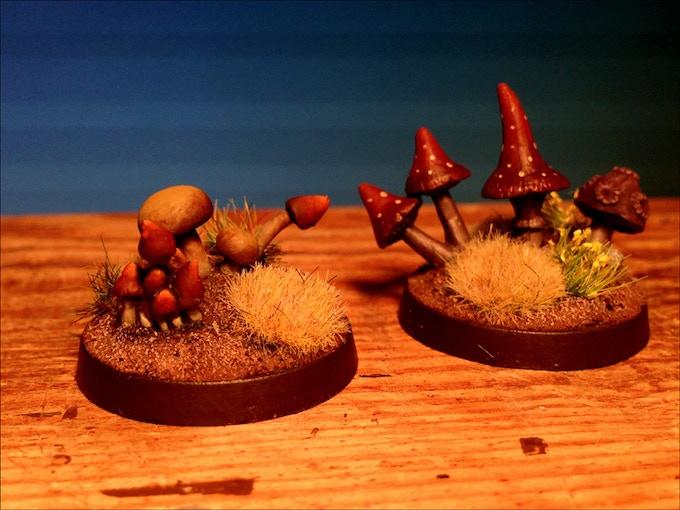 Mushrooms Painted