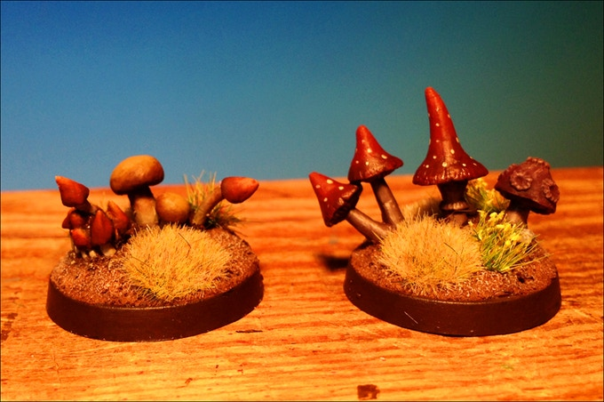 Mushrooms Painted