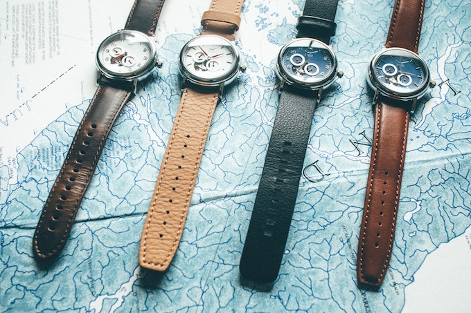 Strap colours left to right - dark brown, caramel, black, mid brown