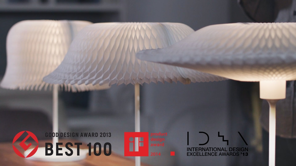 D'LIGHT : Kinetic Lighting -Transformable Lampshade project video thumbnail