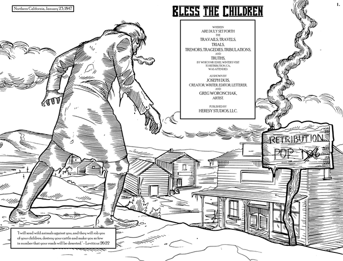 Bless the Children horror Western one-shot comic book by