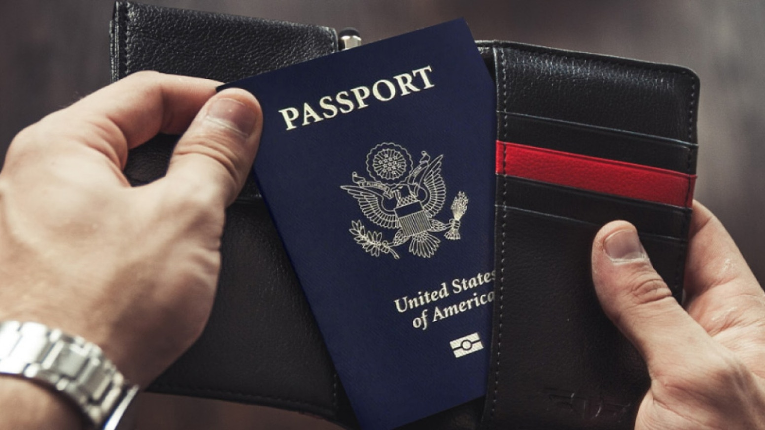 Make travel easier with your Talonport leather passport holder cover. A travel wallet with a unique folding wing and RFID protection.