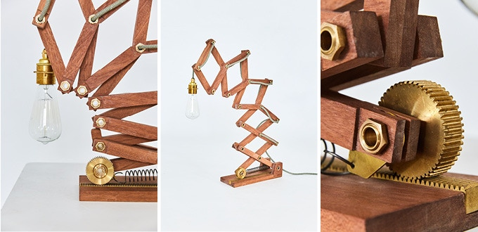 SAPELE (This is the Desk lamp, Floor Lamp also available in Sapele)
