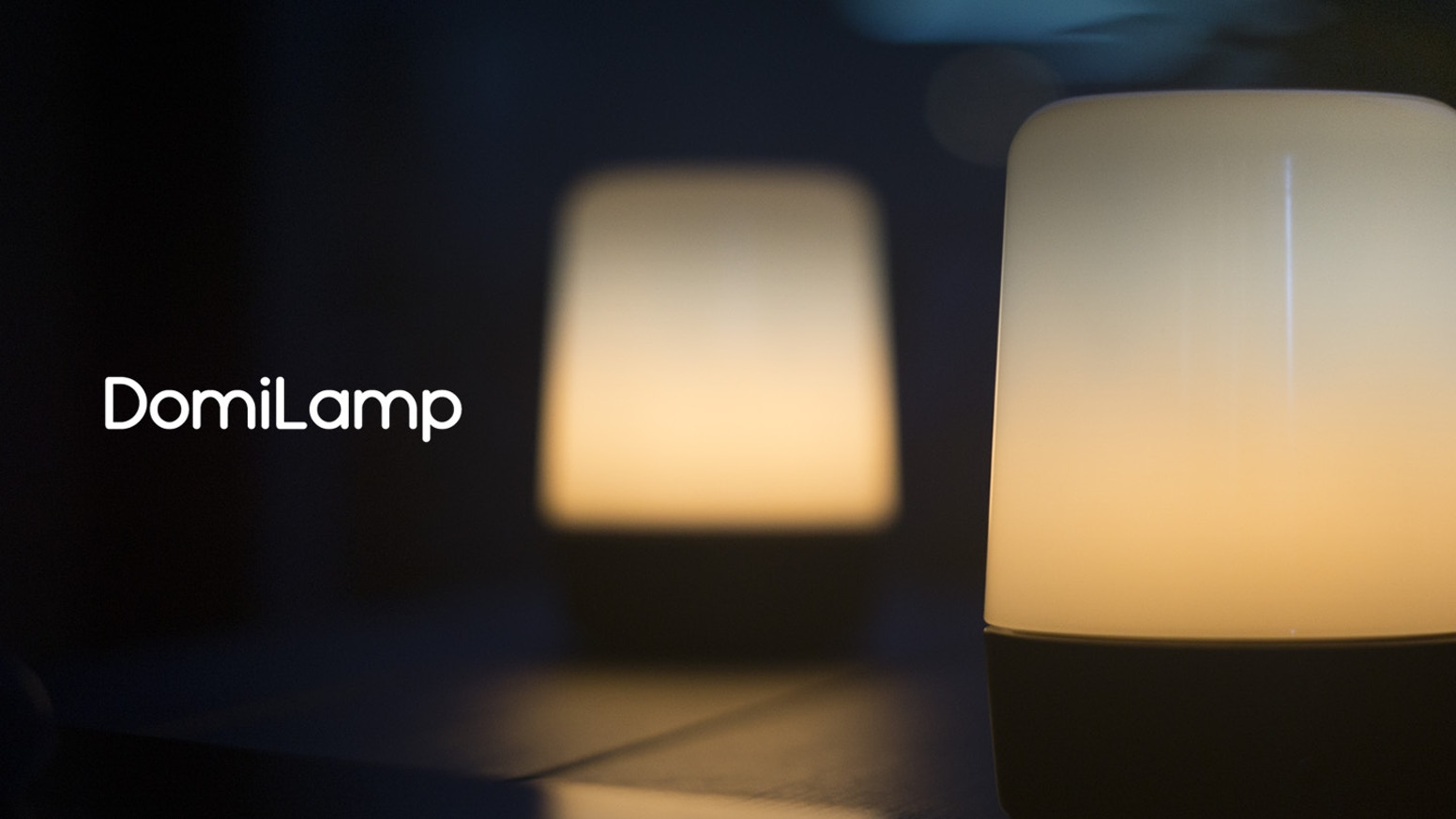 DomiLamp is an artistic wooden lamp with exquisite design and unique ability to interact with peers.