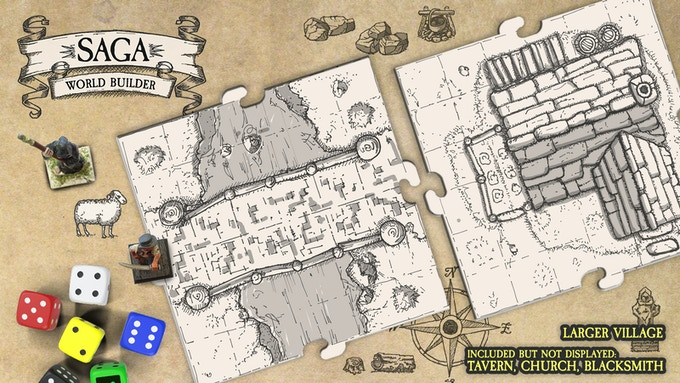 Saga World Builder: Modular tiles for tabletop and D&D games