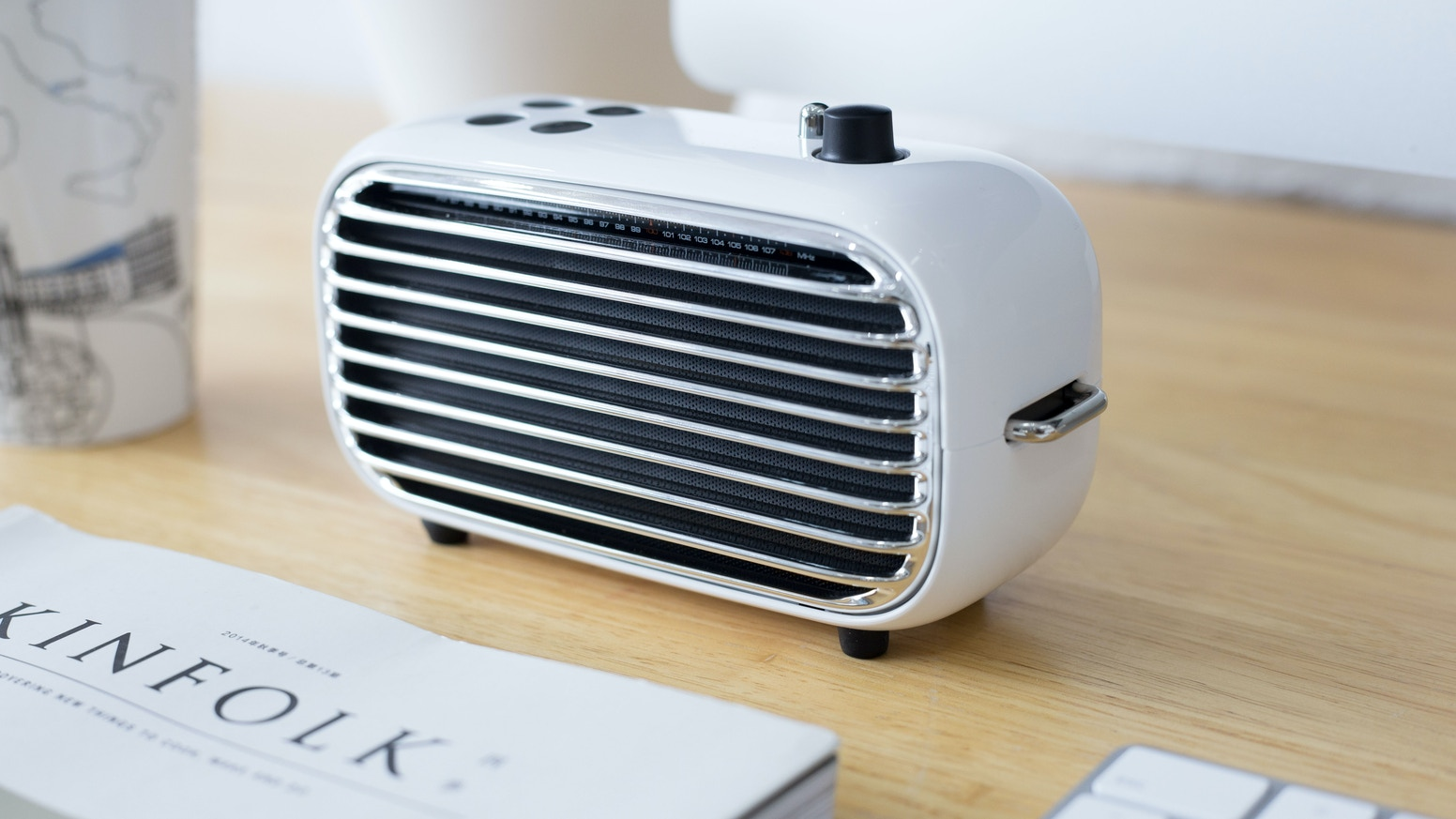 A portable vintage wireless radio speaker that brings back your old memories with powerful audio performance