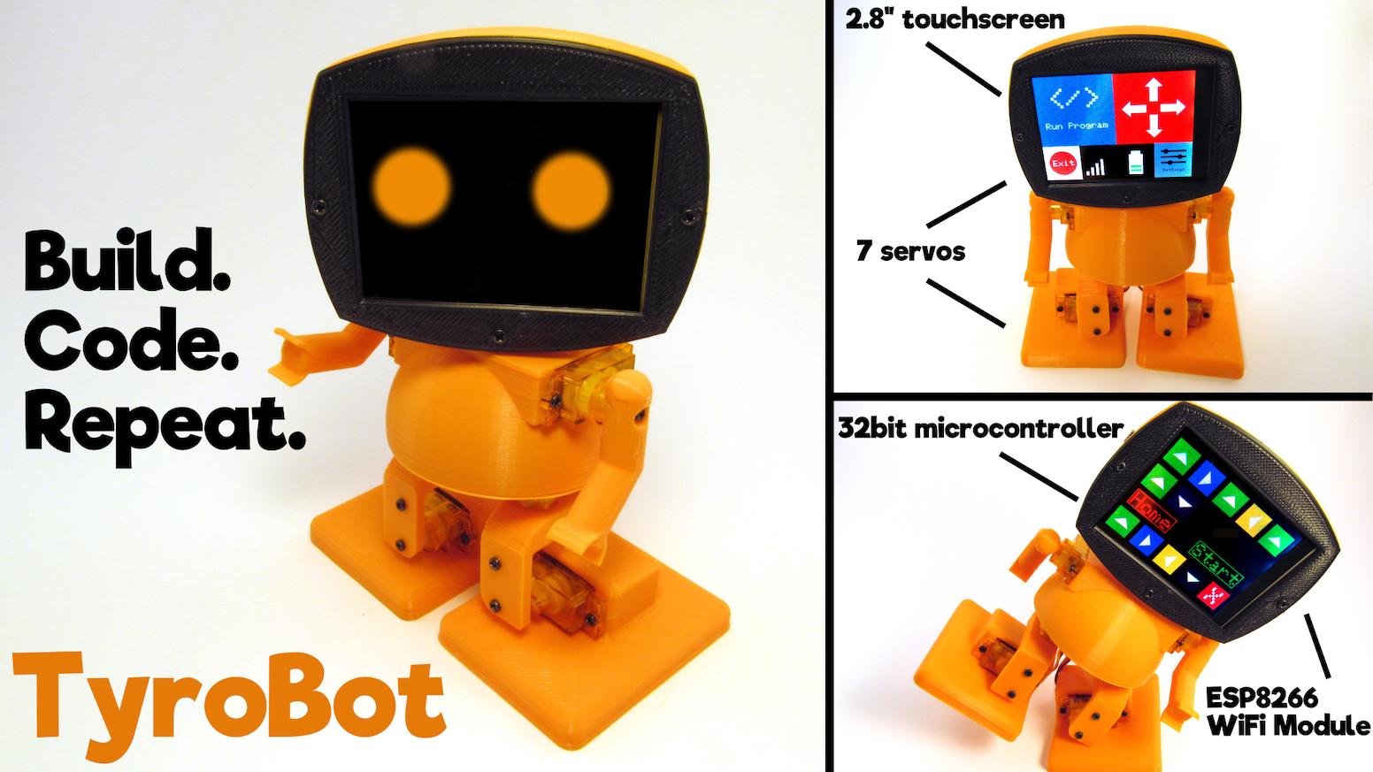 Tyrobot Diy Humanoid Robot Kit By Tyro Electronics Kickstarter
