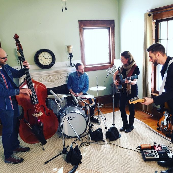 Recording in Kansas City with The Sentimentals (from Denmark)