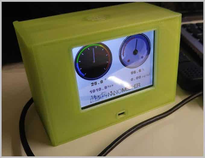 Example project using temperature,  humidity,  pressure sensors