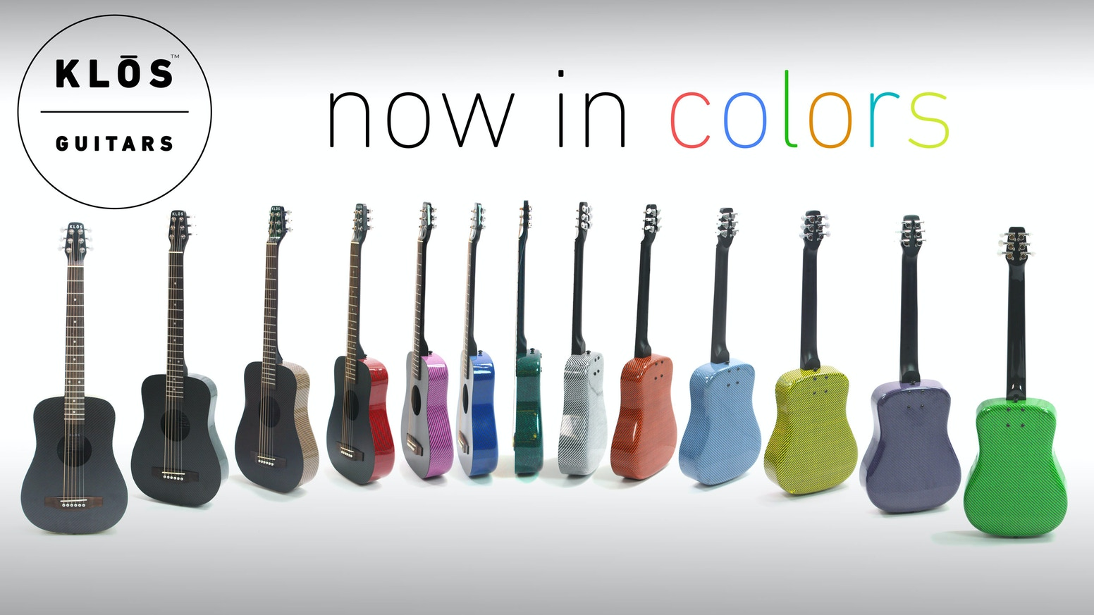 KLOS Guitars is back on Kickstarter, now with over 10 different colors!