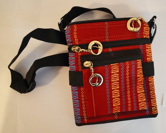 Handmade purse from the Chittagong Hill Tracts of bangladesh, one of the communities our game will serve