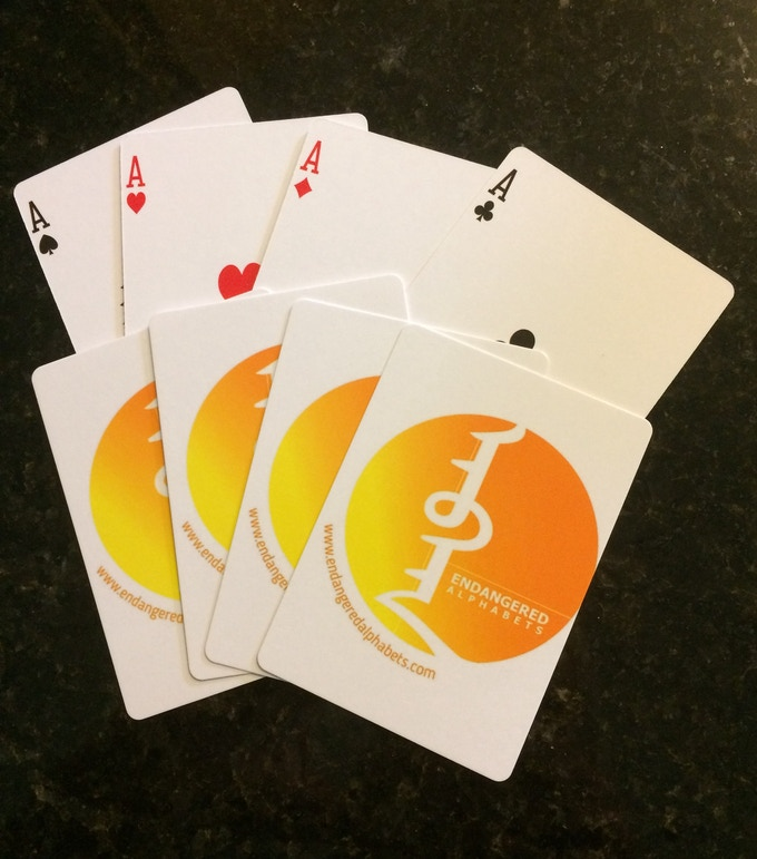 Endangered Alphabets playing cards