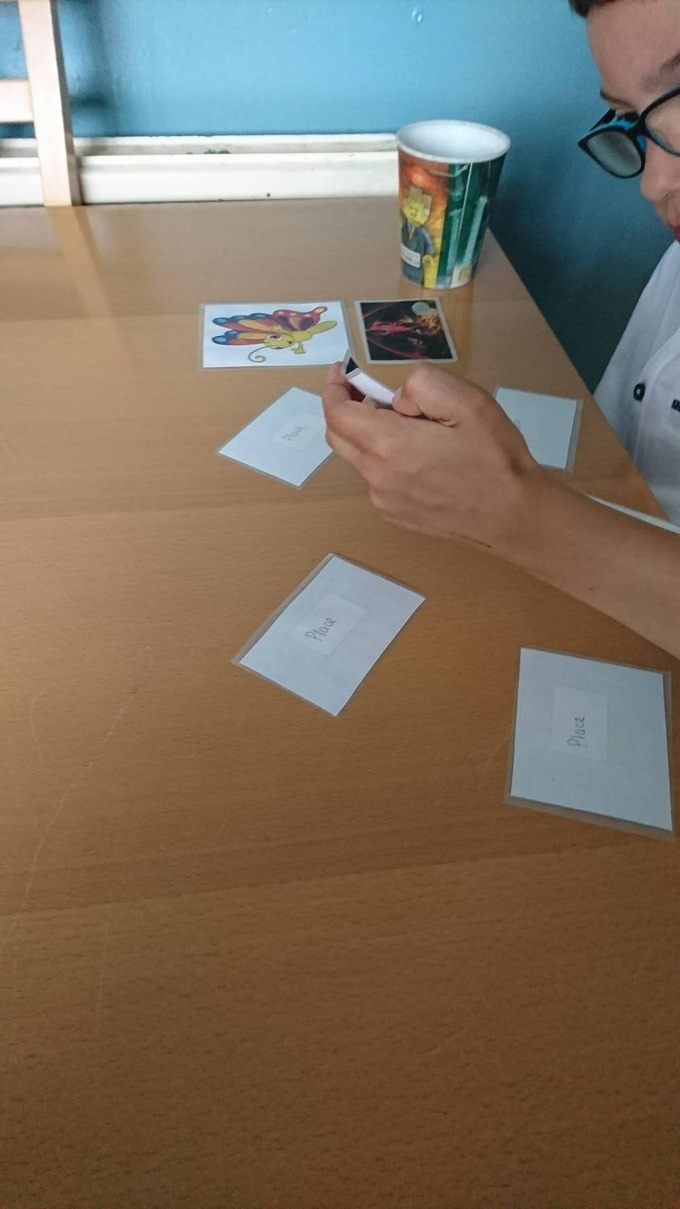 """The Story Game"" cards in action"