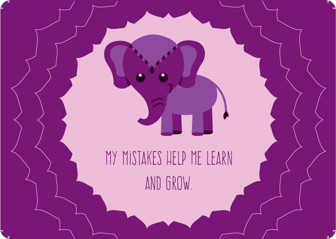 Foster a Growth Mindset: one of 42 cards in the mindfulness game PeaceMakers, in every Time-In ToolKit.