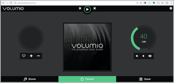 5. Switch On. Use your browser to go to http://volumio.local . That's it!