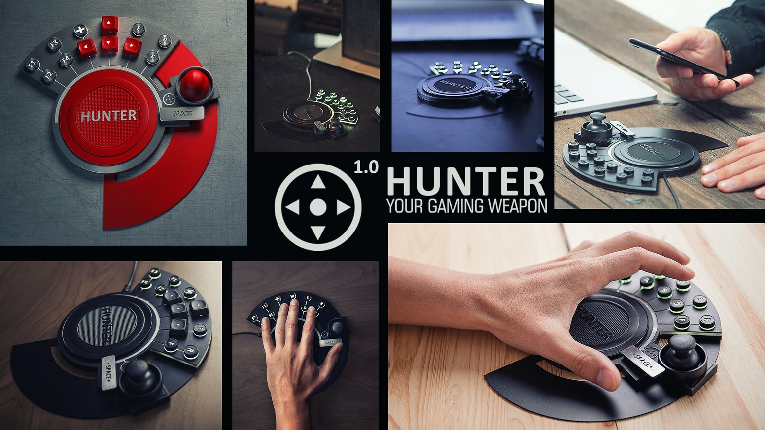 With mechanical mini gamepad HUNTER 1.0 you can keep your win under control