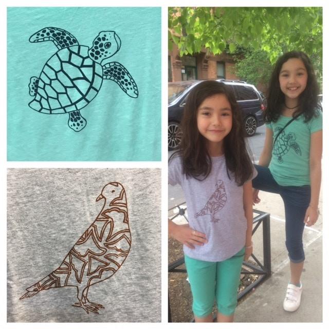 Mia and Cara, Turtle and Dove