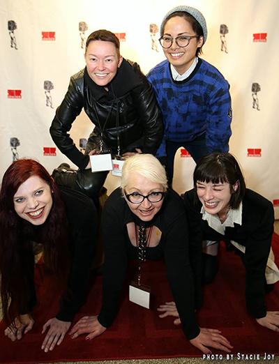Photo By Stacie Joy. Morgana with Jiz Lee, Chelsea Poe, Stoya and Milcah Halili