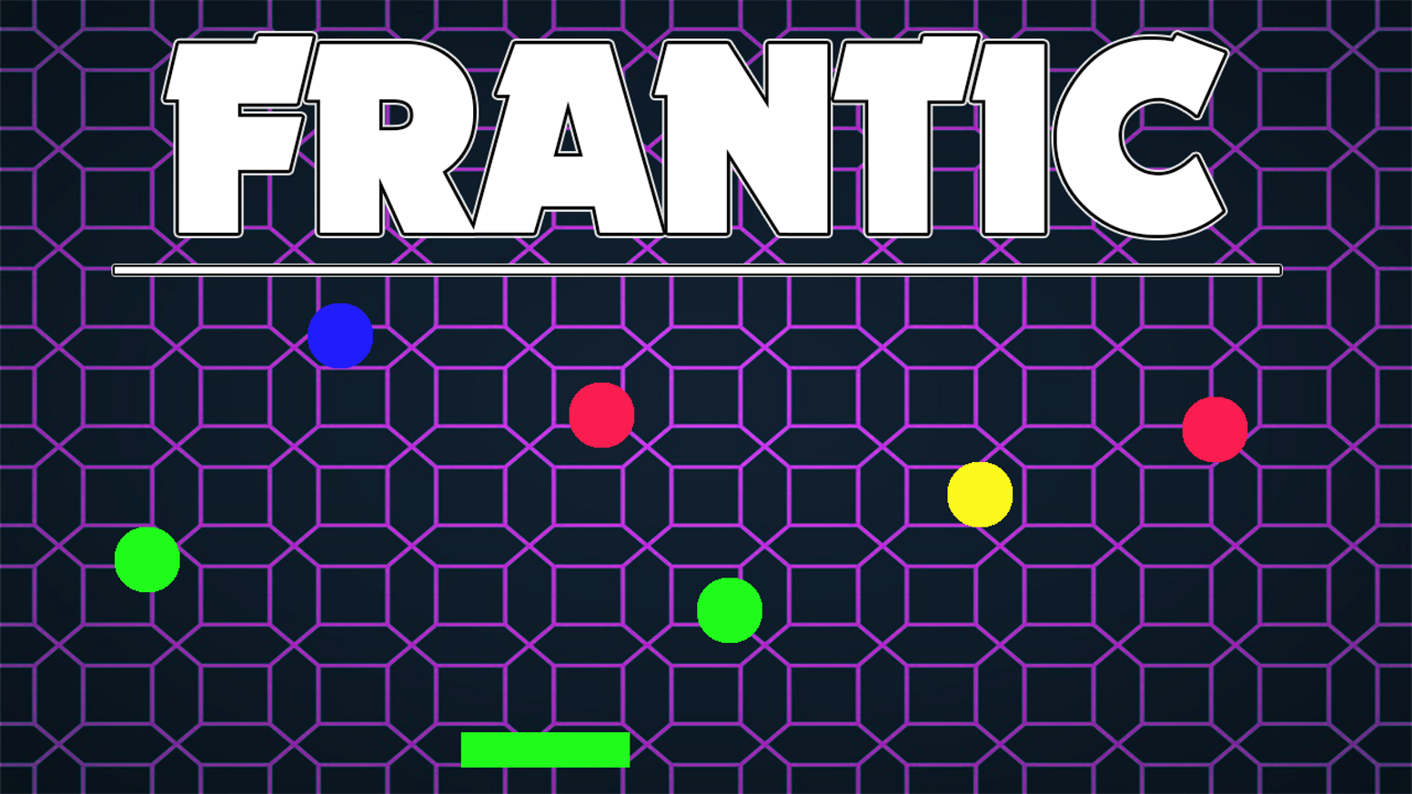 Frantic is a retro themed game which focuses on quick reflexes. Its a mix between the iconic arcade games Pong and Coin dropper