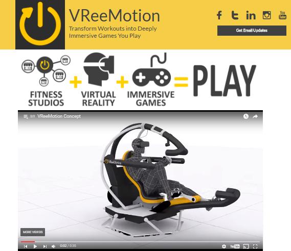 8DOF VR fitness motion system VReeMotion