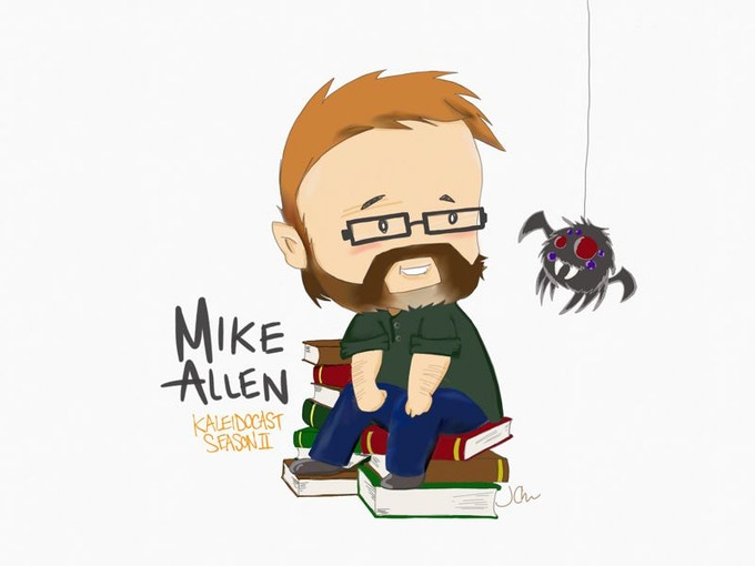 Along came a spider and Mike Allen invited it over for tea.