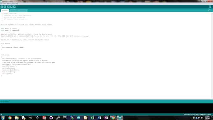 Program TyroBot in the Arduino IDE