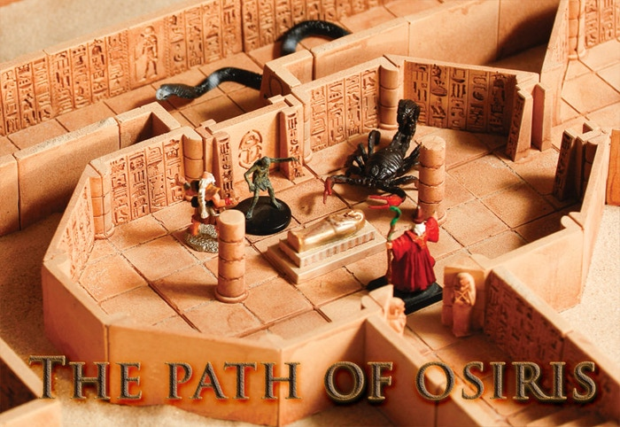 Lunesdargent Workshop is proud to introduce its first miniatures gaming environment : The Path of Osiris. (D&D compatible)