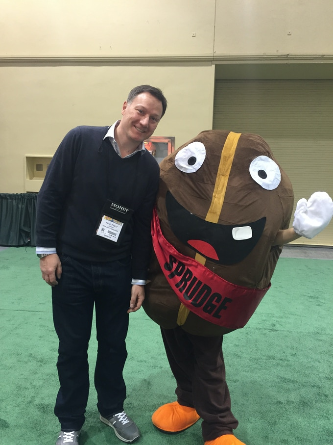 Paul and Spesh the bean at SCAA.