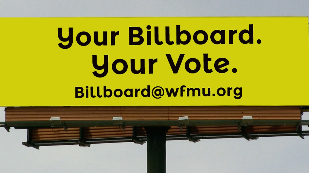 Choose and Fund WFMU's First (and Last) Billboard project video thumbnail