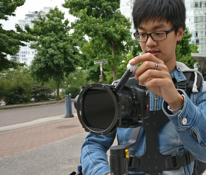 LensShifter Pro works great on a gimbal. Image courtesy of Justin Siu, @jbsiu on Instagram.