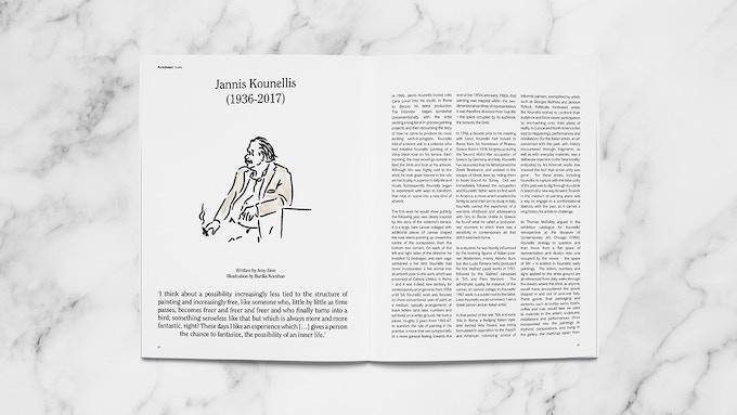 Observation on artist Jannis Kounellis, written by Amy Zion