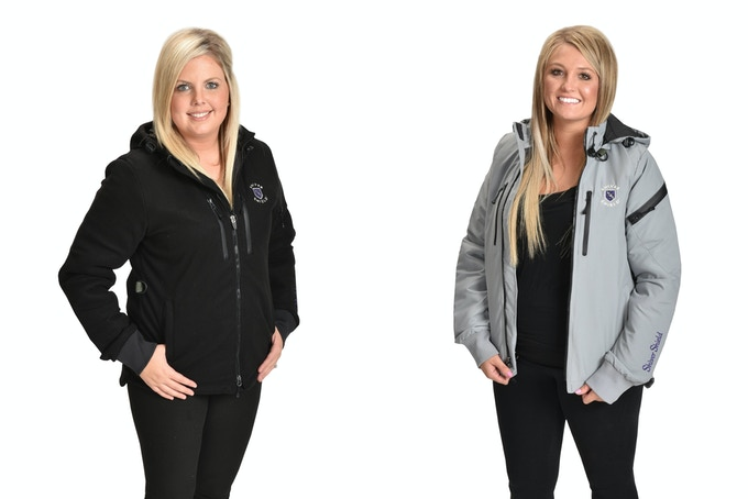 Women's Black and Gray Coats