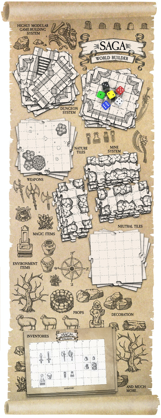 Saga world builder modular tiles for tabletop and dd games by saga saga world builder is a highly modular game building system for creating gaming maps and environments the system consists of a large number of double sided gumiabroncs Gallery