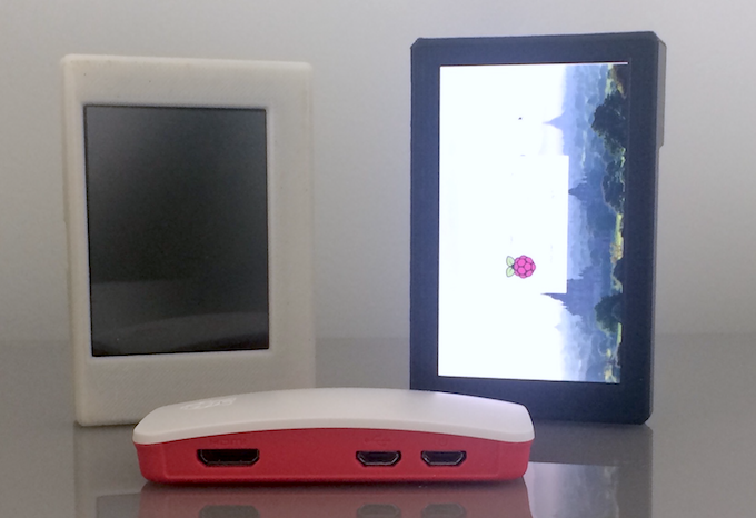 Noodle Pi has come a long way from the first prototype (left) made July 2016. Official Pi Zero case in front.