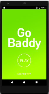 GO BADDY app - welcome screen