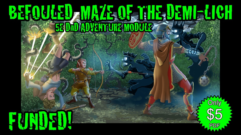 Befouled Maze of the Demi-Lich, 5e DnD Adventure Module project video thumbnail