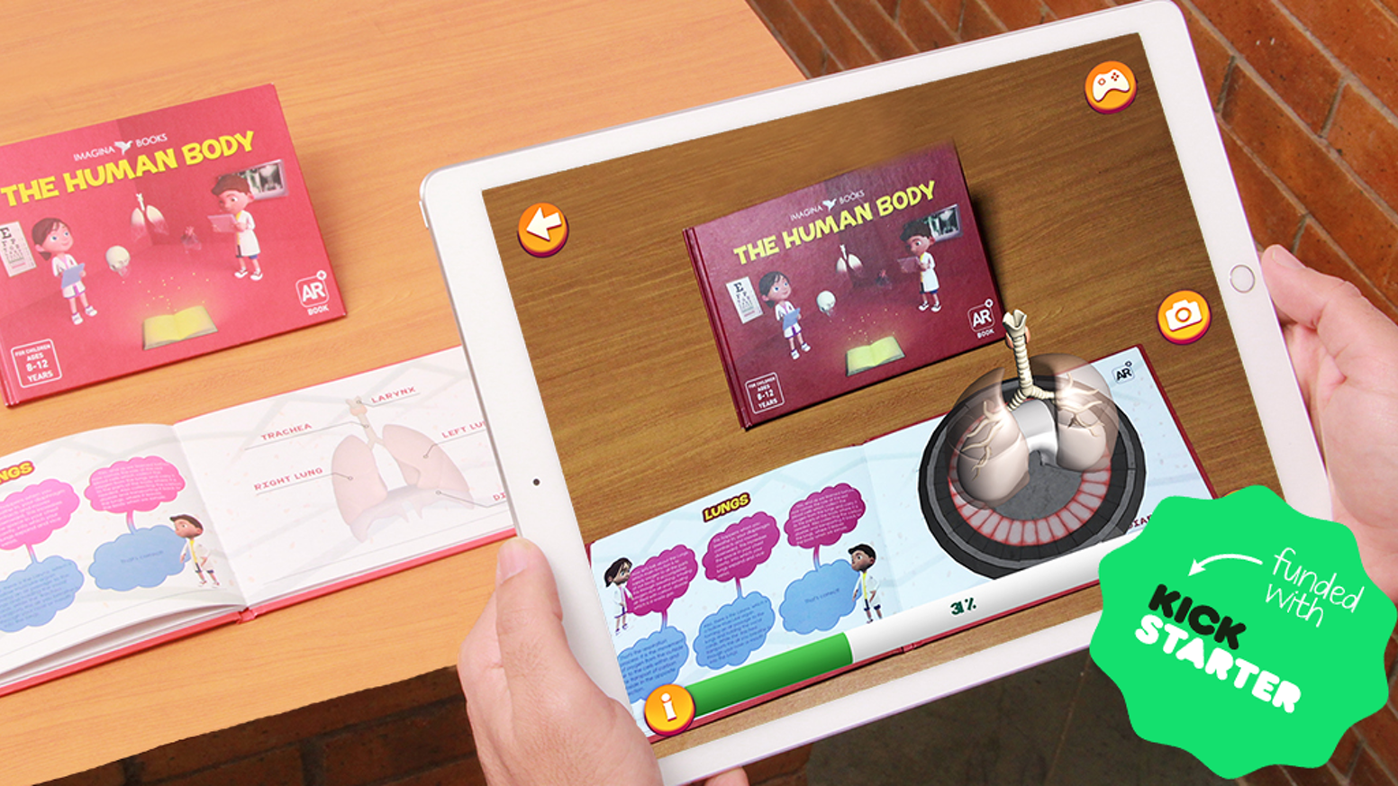 Unleash your kid's inner scientist with this augmented reality book and application of the human anatomy and bodily functions.