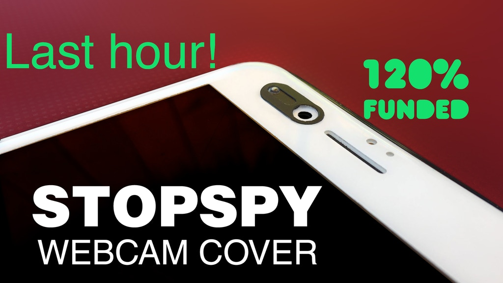 StopSpy: World's Thinnest (0.3mm) Webcam Cover project video thumbnail